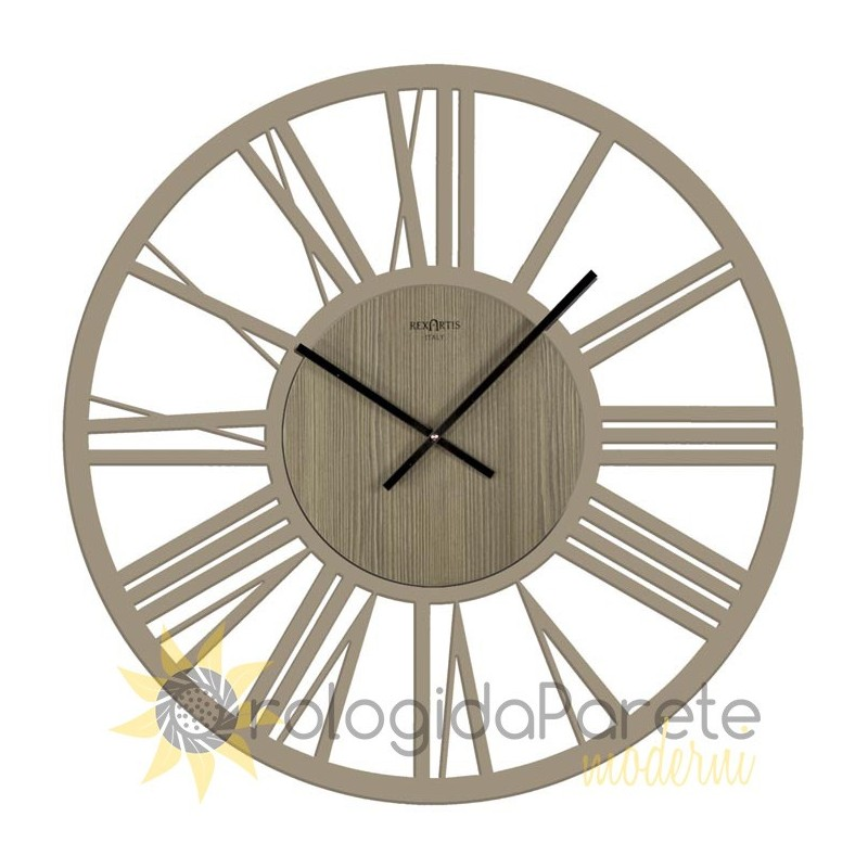 LARGE WALL CLOCK ROUND WOODEN IMPERIAL