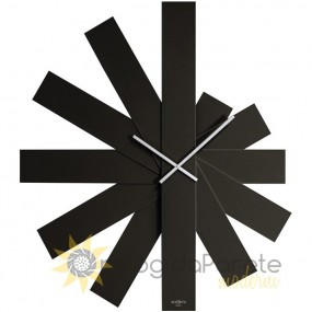 LARGE WALL CLOCK MODERN VARNISHED WOODEN