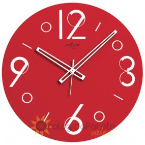WALL CLOCK MODERN GLASS ROUND SILVER-PLATED SCREEN-PRINTED