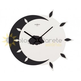 WALL CLOCK MODERN MYTEO IN WOOD LACQUERED BLACK