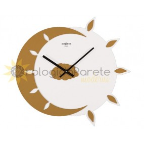 WALL CLOCK MODERN MYTEO LACQUER WITH YELLOW GOLD