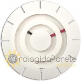 OROLOGIO DA PARETE ROTONDO TWIST IN PLEXIGLASS E LEGNO BIANCO