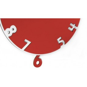 PENDULUM CLOCK WITH SIX IN LACQUERED WOOD