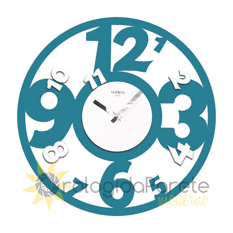 WALL CLOCK ROUND ARABIAN IN LACQUERED WOOD