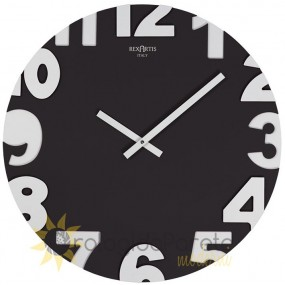 WALL CLOCK MODERN METROPOLIS 50 IN WOOD LACQUERED BLACK