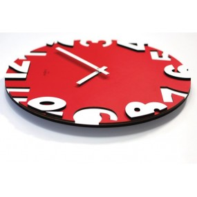 WALL CLOCK MODERN METROPOLIS 50 IN LACQUERED WOOD
