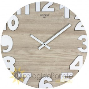 WALL CLOCK MODERN METROPOLIS 50 IN WOOD ELM LIGHT NATURAL