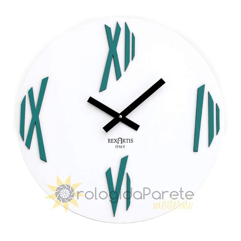 WALL CLOCK MODERN SKETCH, PAINTED WOOD