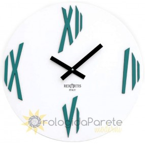 WALL CLOCK MODERN SKETCH IN LACQUERED WOOD ACQUAMARE