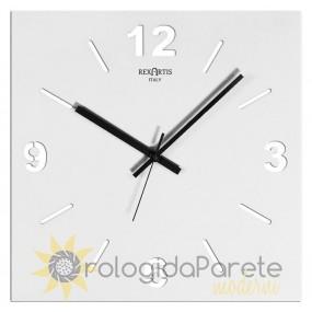 horloge murale blanc, stilewood rexartis
