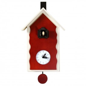 CUCKOO LAC - CLOCK WOOD WALL-mounted LACQUERED WITH PENDULUM