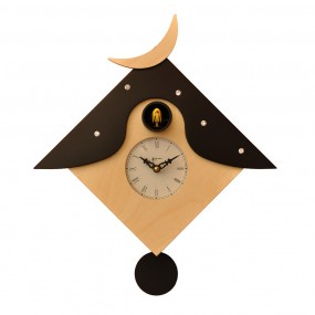 CUCKOO OTRANTO - CLOCK LACQUERED WOOD WITH PENDULUM MOD. WALL