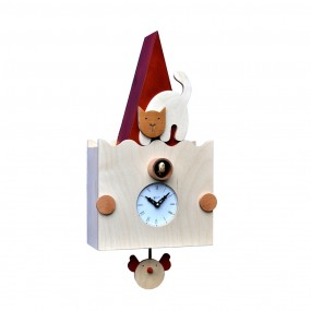 CLOCK CHILDREN WOODEN CUCU PENDULUM PIRONDINI