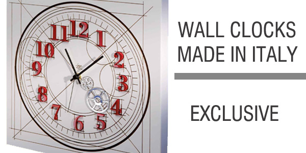 modern wall clock made in italy