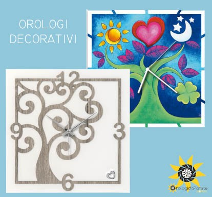 Orologi da parete decorativi